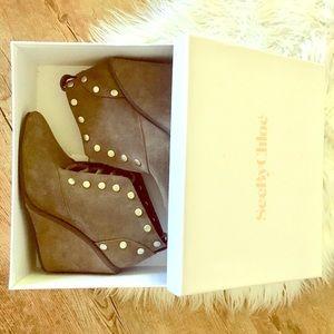 Genuine Suede Studded Janis SeeByChloé Heels